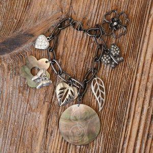 Jewelry - Abalone shell charm bracelet